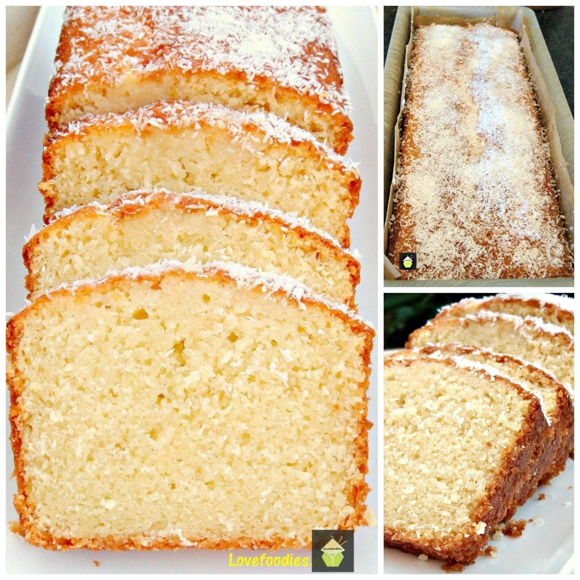 Moist Coconut Pound Loaf Cake via @bestblogrecipes
