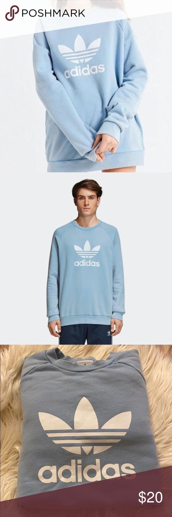 Euc Adidas Sweater Light Blue Adidas Sweater Sweaters Blue Adidas [ 1740 x 580 Pixel ]
