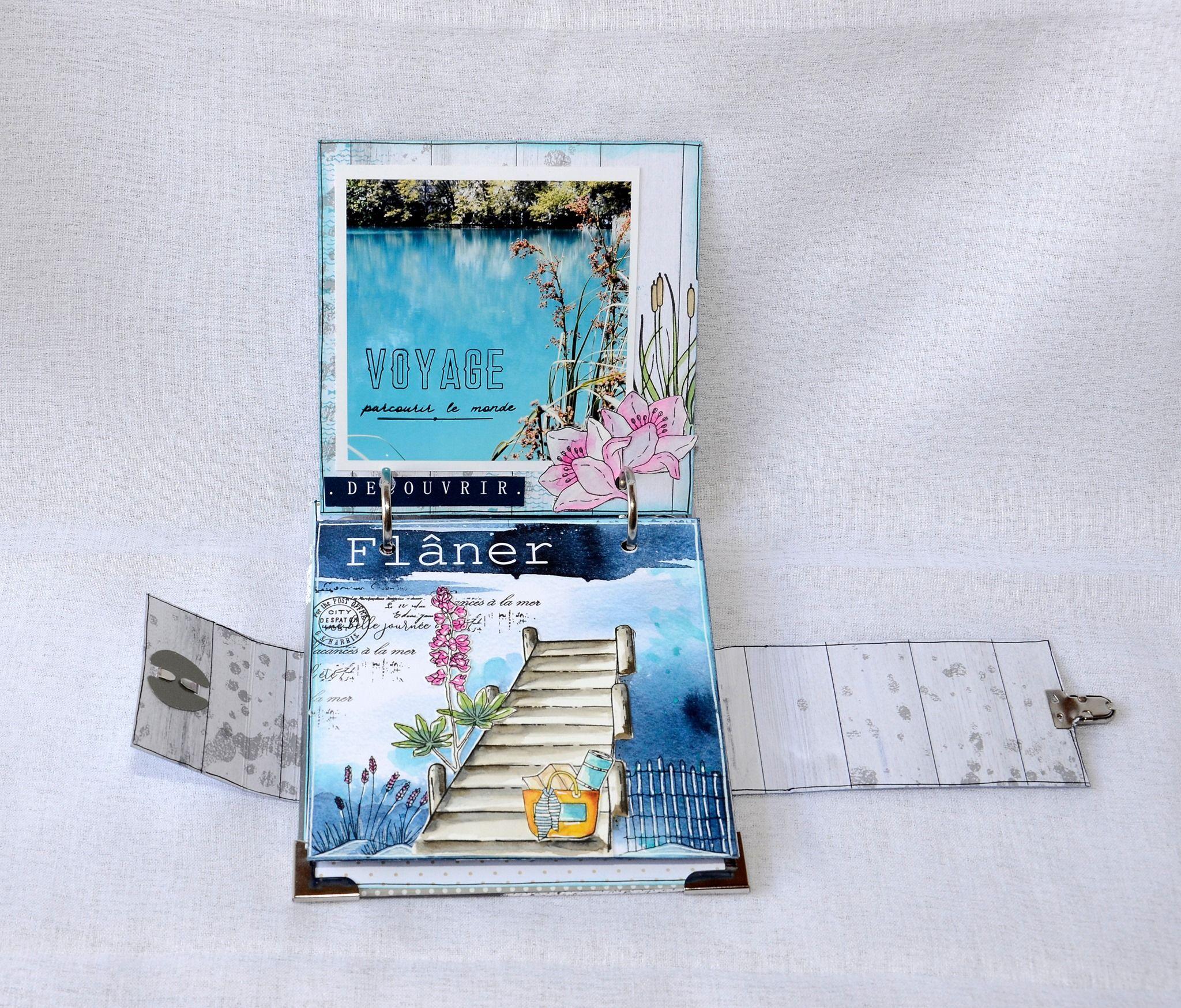 Mini Album Carte Postale Par Pinklola Chou Flowers Carte Postale Mini Albums Postale
