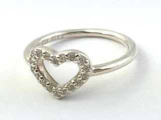 Authentic Pandora Be My Valentine Clear Cz 925 Silver Ring 190861cz