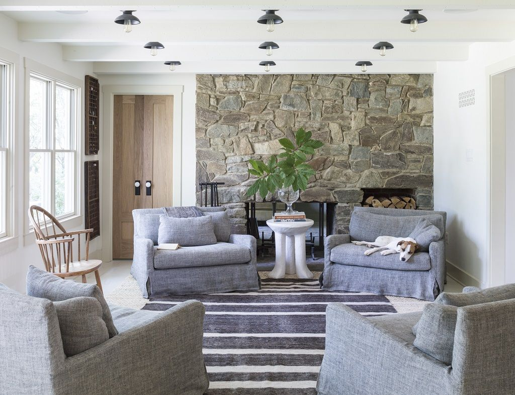 Oversized Furniture Living Room Light Grey With Brown I Love This Arrangement 4 Chairs Instead Of The Traditional Couch And Two Are Big Enough For An Adult Child To