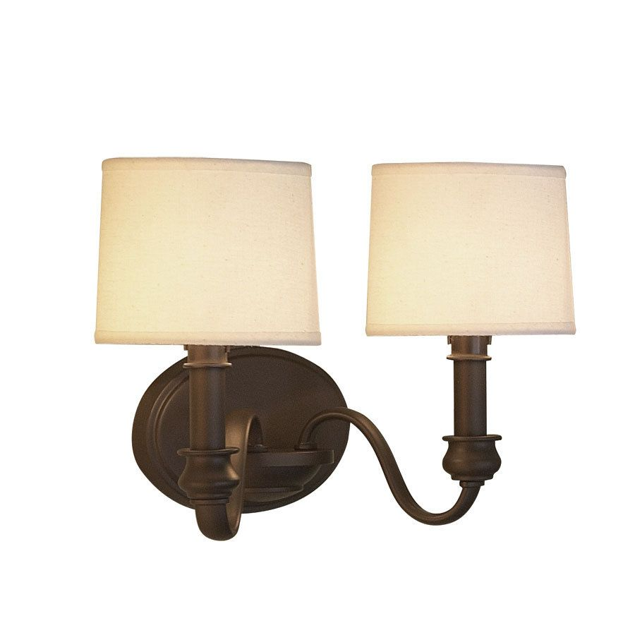 Shop Allen Roth 13 75 In W 2 Light Olde Bronze Arm Hardwired Wall Sconce At Lowes Com Wall Sconces Bedroom Wall Sconces Interior Wall Sconces