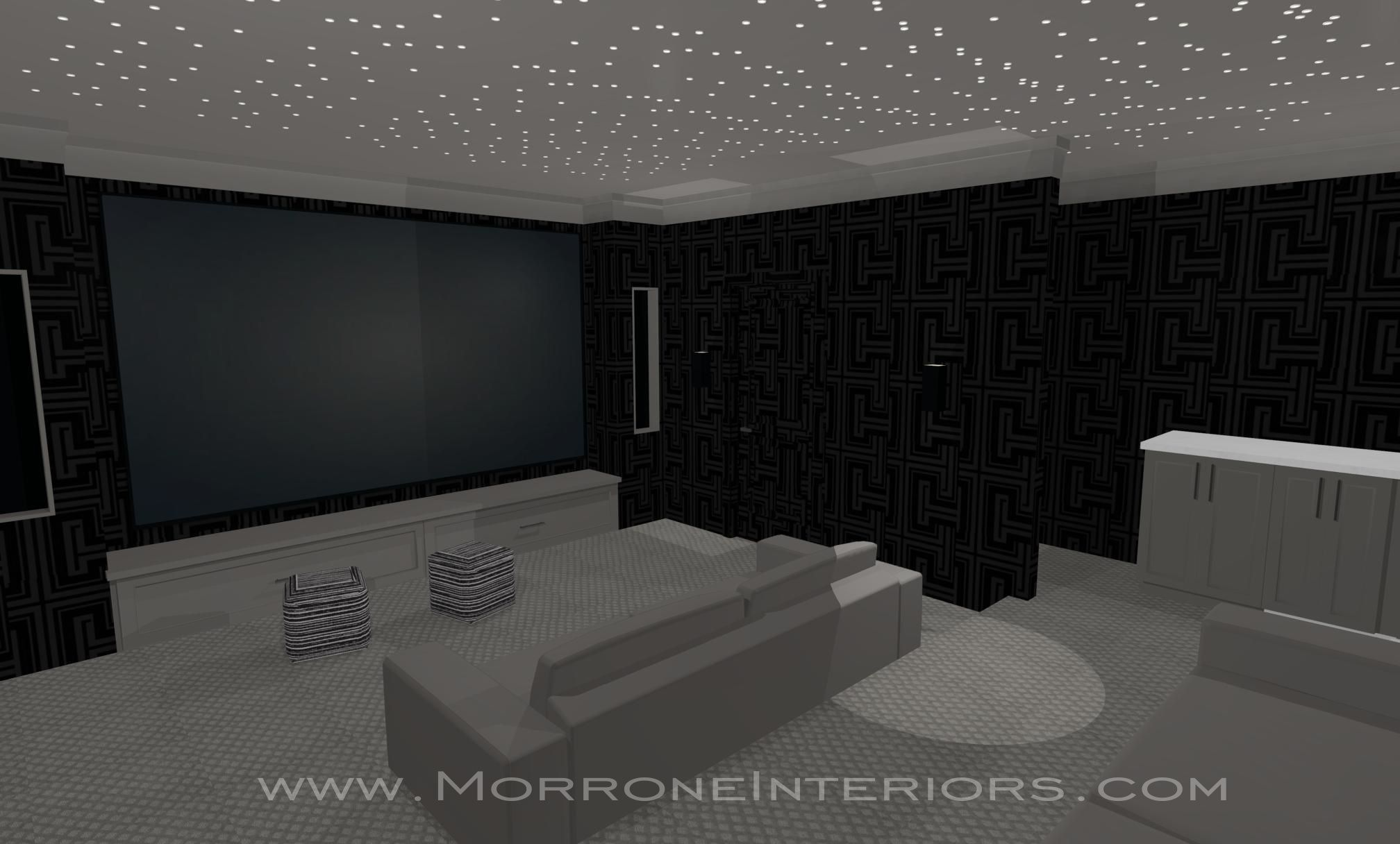 Full Home Design 3D Drawings Home Theatre Interior