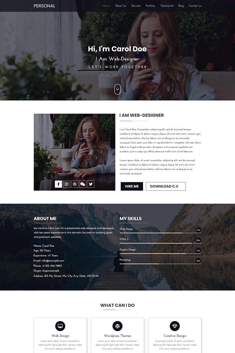 Personal Portfolio Creative Psd Template 69517 Portfolio Web Design Portfolio Website Design Portfolio Website Template