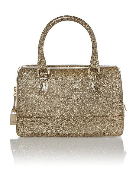 Furla Candy Gold Glitter Bowling Bag Personal Style In 2018