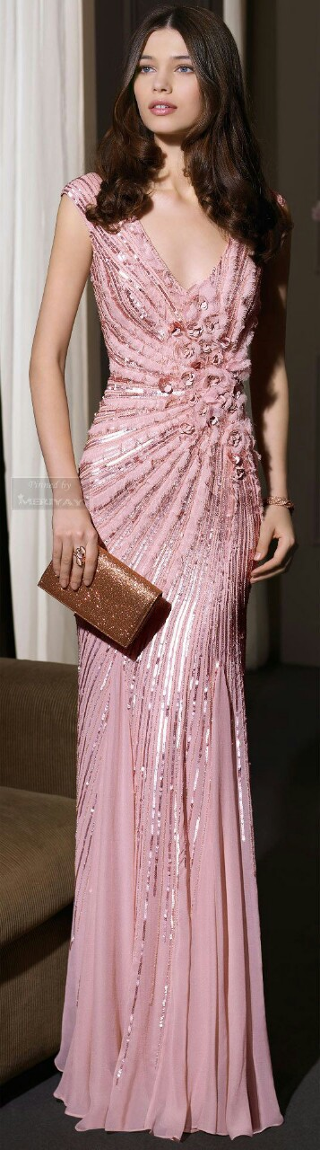 Rose evening dress | Pink... Runway | Pinterest | Vestido de gala ...