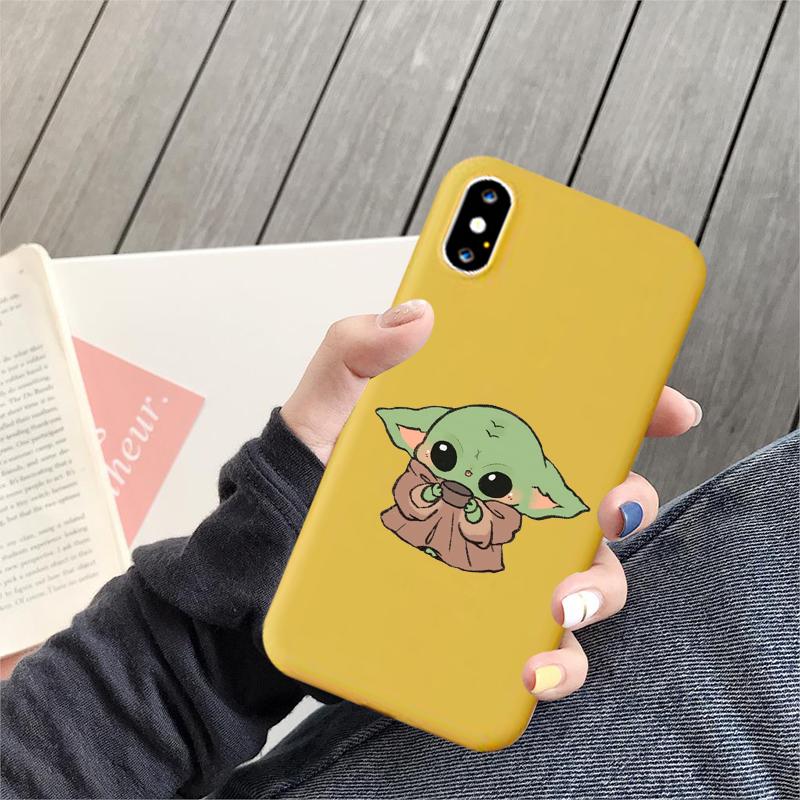 Cartoon Cute Funny Baby Yoda meme Silicone Soft Shell
