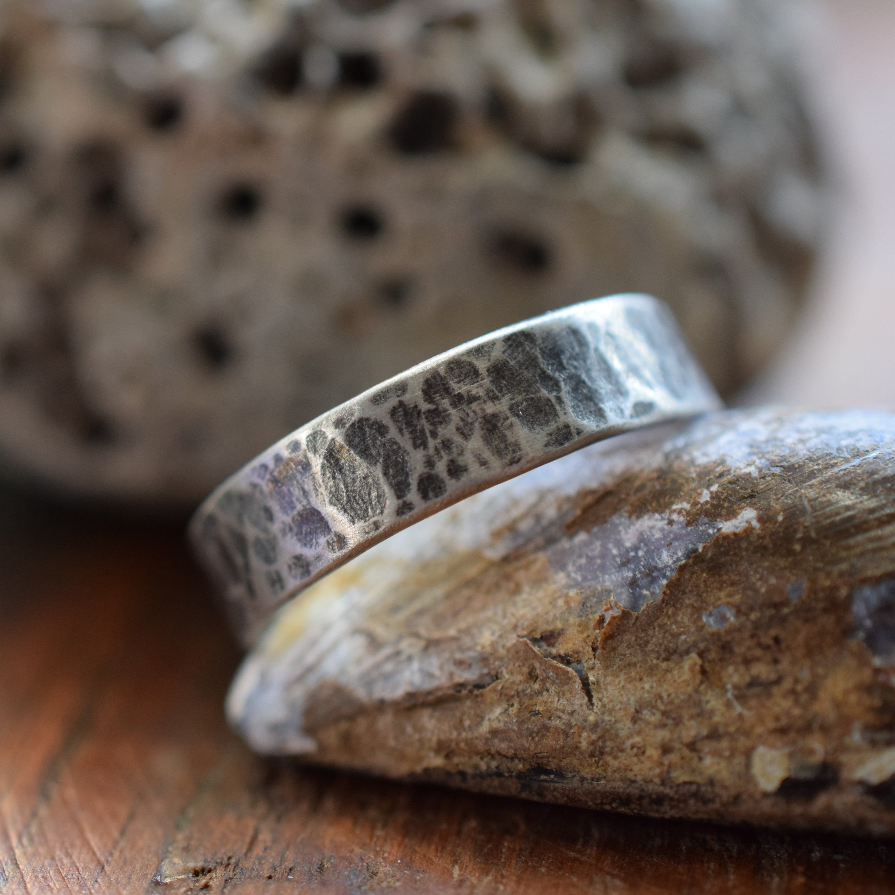 genuinely handcrafted from sterling silver melted and reticulated design Delicate and Minimalist Ring