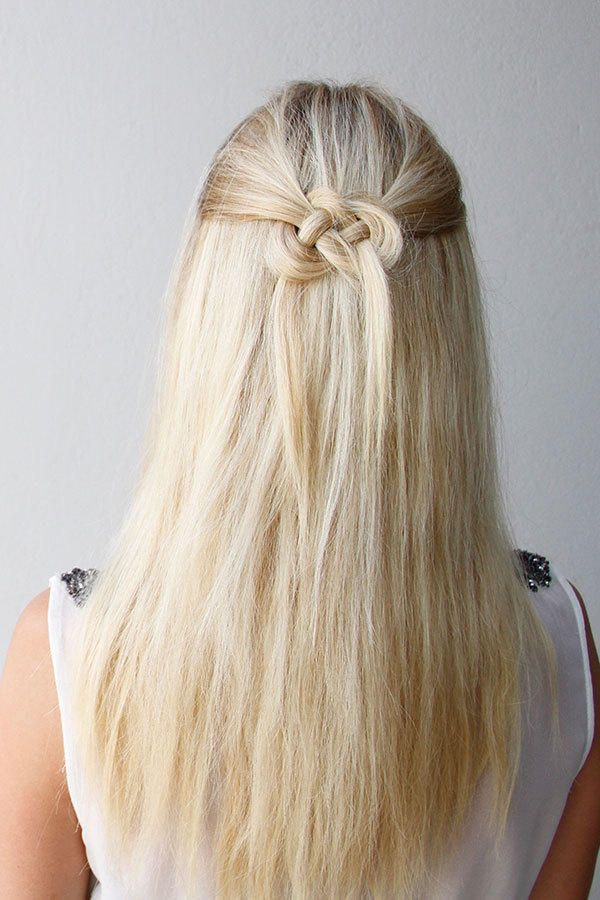 A Celtic knot adds interest to a regular pulled-back hairstyle. It looks intricate, but with the help of this tutorial, you can re-create it with a little practice.