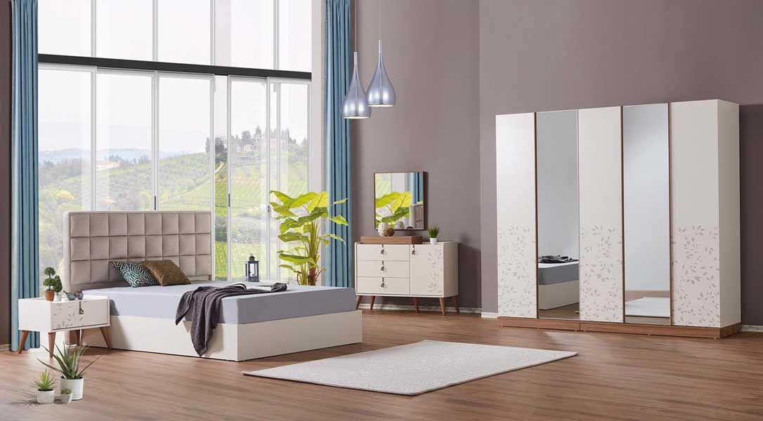 tezel fiore yatak odasi takimi bej oturma odalari mobilya yatak odasi mobilya takimlari
