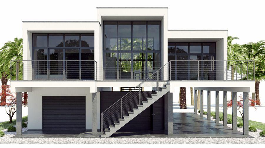 Coastal House Plans 001 House Plan Ch466 Jpg Coastal House Plans Sloping Lot House Plan Beach House Flooring
