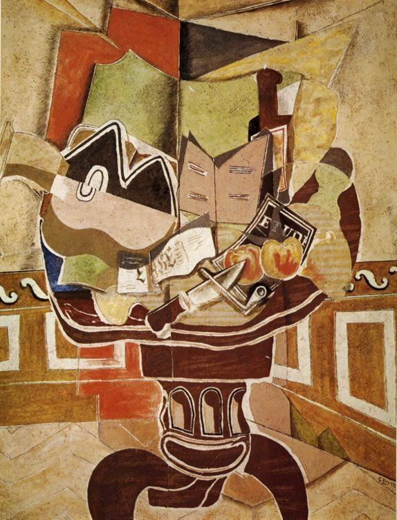 The Round Table Via Georges Braque Size 114x144 8 Cm Medium Oil