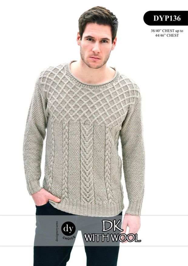 Cable Sweater in DY Choice DK with Wool (DYP136) Digital Version ...