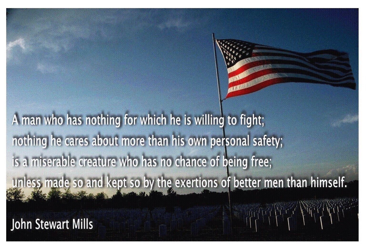 Freedom is never free.