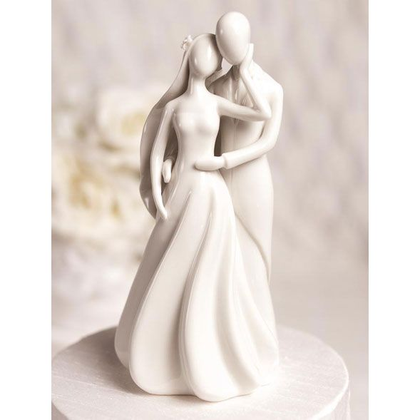 Silhouette of Love White Porcelain Wedding Cake Topper   Wedding     Silhouette of Love White Porcelain Wedding Cake Topper