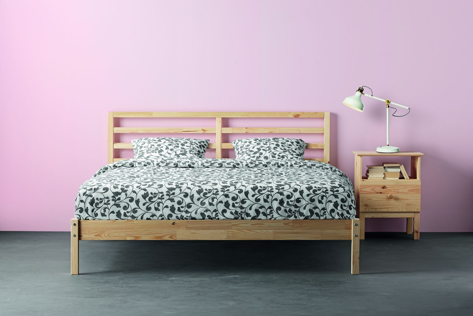 Rama łóżka Terva Ma Wymiary 209 X 168 Cm Produkt Wykonany