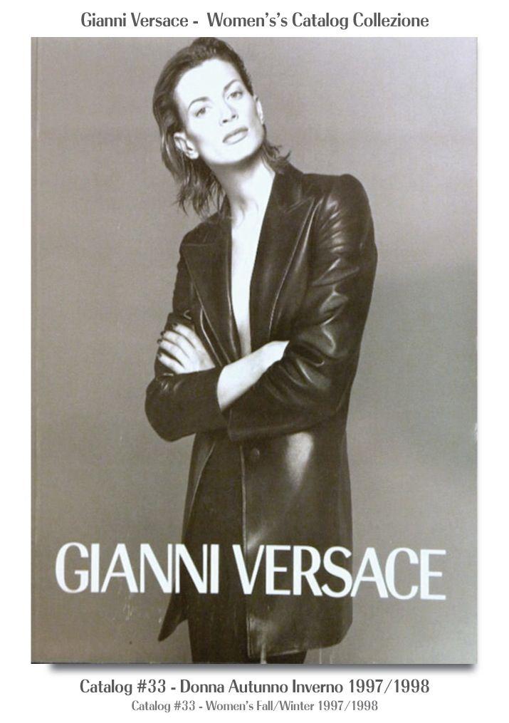 #33 - Donna.  Kristen Mcmenamy Gianni Versace Donna Collezione Autunno Inverno Women's Fall Winter Catalog SuperModels Fashion #33, 1997 / 1998