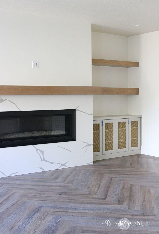 LVP Herringbone Floors & Basement Reveal Flooring