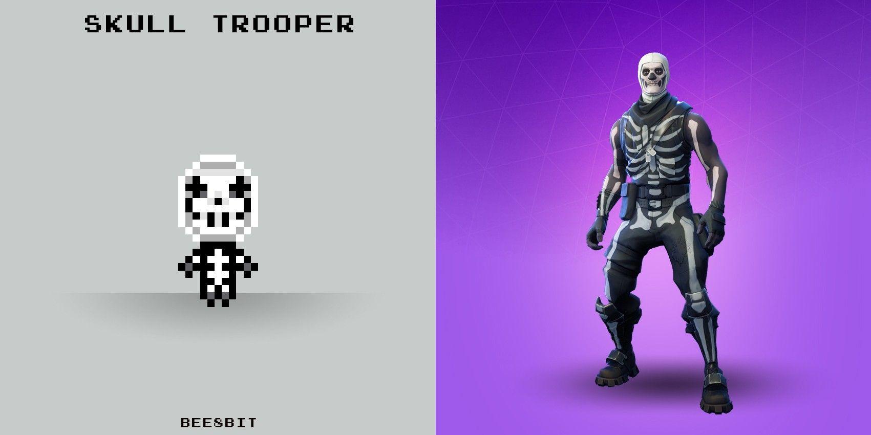 Skull Trooper Fortnite Pixel Hama Beads Perler Bead Art