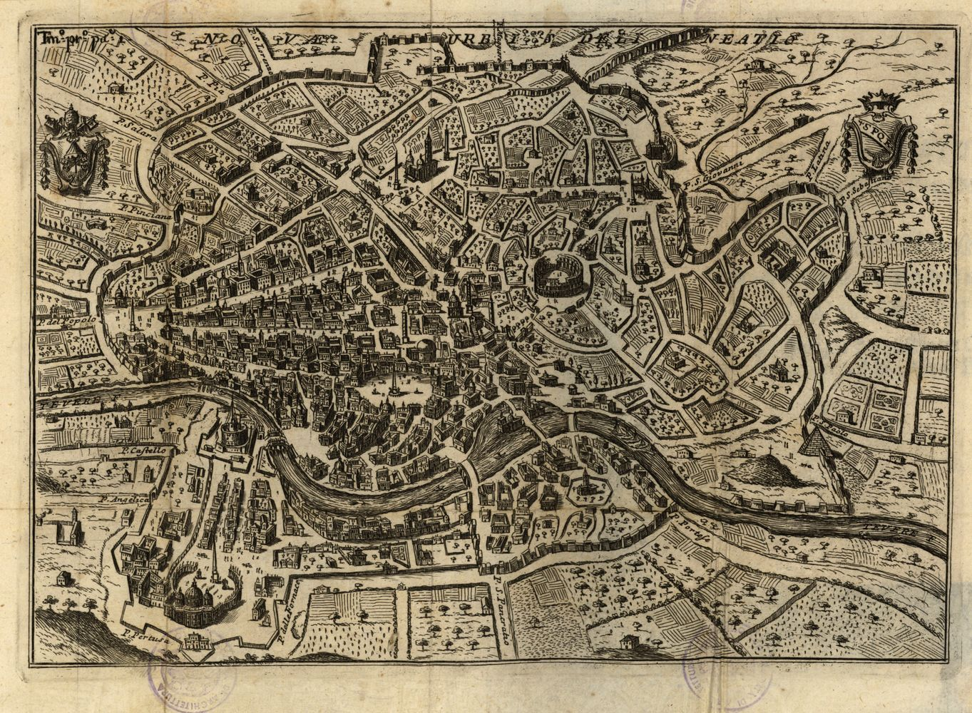 Cartina D Roma.Mappa Di Roma Della Prima Meta Del Settecento Roma Statopontificio Mappa Illustrazione Rome Map Map City Photo