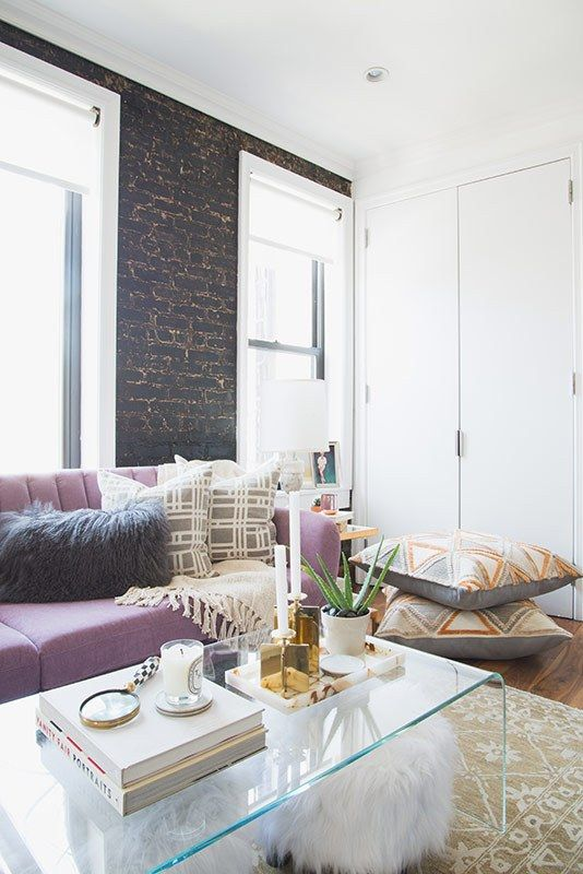 15 Decorating Ideas From A Hills Star S First Nyc Apartment City Apartment Decor Apartment Living Room Small Apartment Decorating #nyc #apartment #living #room #ideas