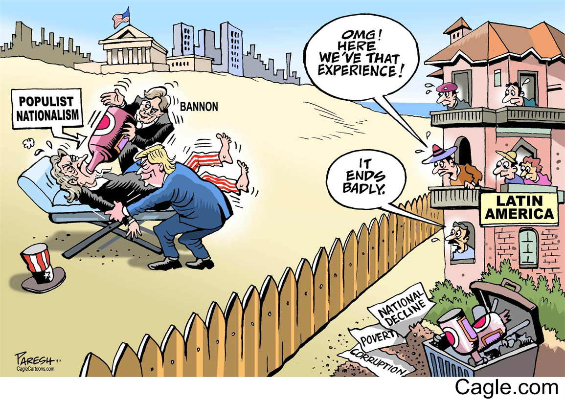 Latin Americans On Trump By Cartoonist Paresh Nath