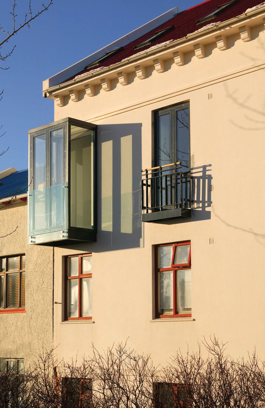 Balcony modern apartment in reykjavik iceland