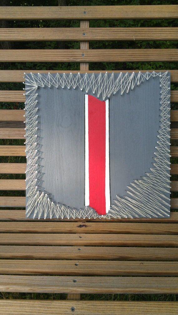 Ohio State Buckeyes String Art Negative Space by Trash2Treasure83 ...