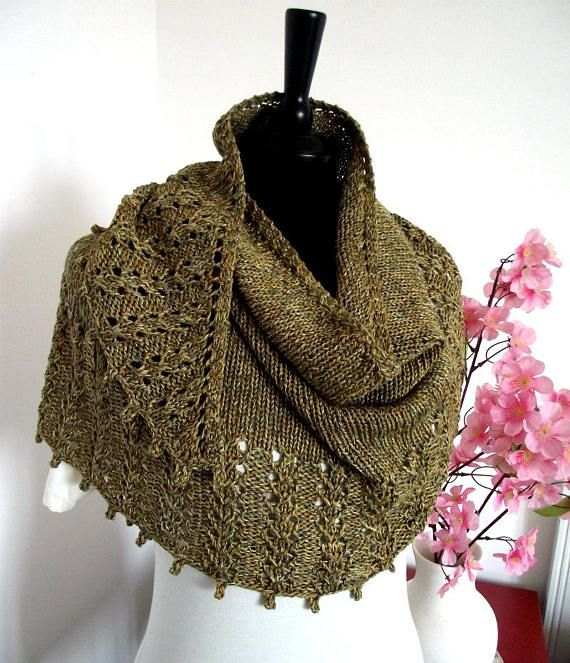 Knitting Pattern Shawl - Eternity Shawl Pattern, knit pattern lace ...