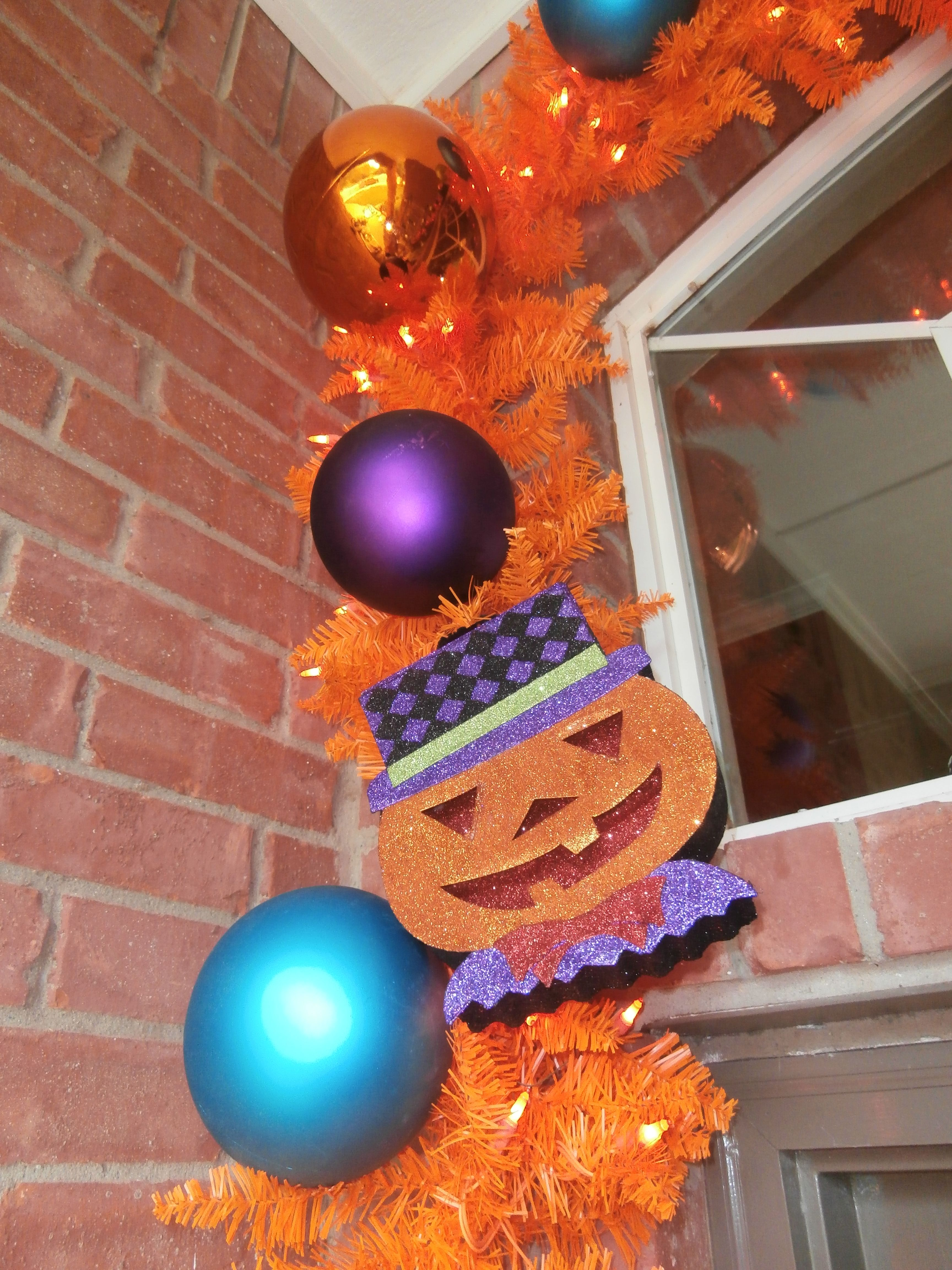 Glitter Jack O Lantern Faces Are Light Weight And Add In