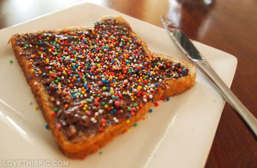 Chocolate Sprinkle Toast!!Just a little easy enjoyable Breakfast to start their Morning,s.