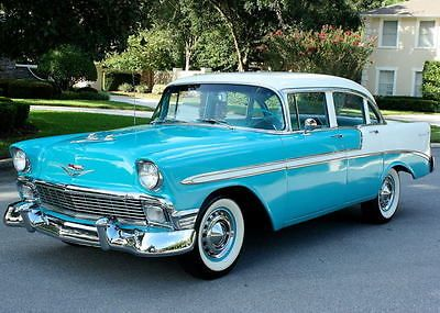 Ebay 1956 Chevrolet Bel Air 150 210 Restored Overdrive 11k Mi