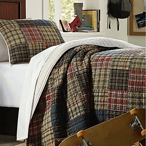 Brandream Queen Size Patchwork Quilt Set Luxury Bedspread... http ... : tartan patchwork quilt - Adamdwight.com