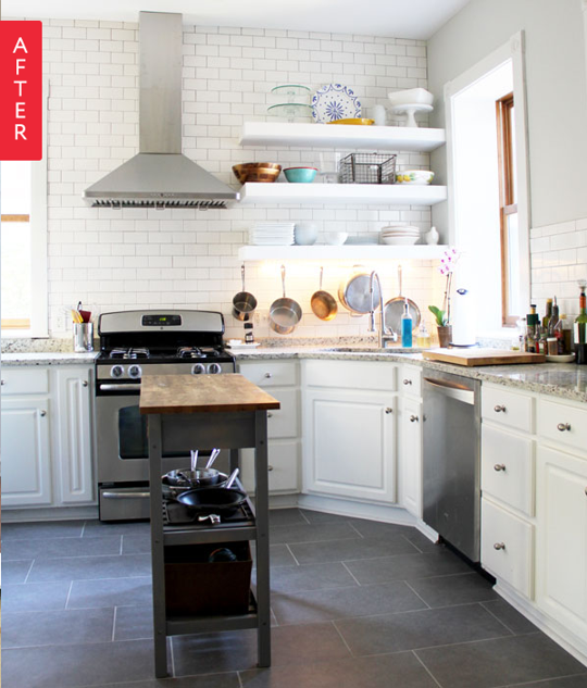 5 Tips On Build Small Kitchen Remodeling Ideas On A Budget: Before & After On A Budget: 10 Wallet-Friendly Kitchen