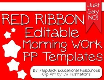 Editable red ribbon week morning work powerpoint templates red brighten your room during red ribbon week with these editable powerpoint templates that you can use toneelgroepblik Choice Image