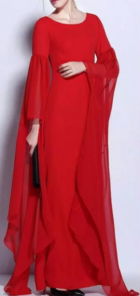 Bcbg Long Sleeved Red Runway Gown Runway Gowns Gowns Long Sleeve Dress
