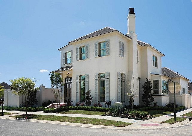 Tailored family home with neutral interiors home bunch - Benjamin moore white dove exterior ...