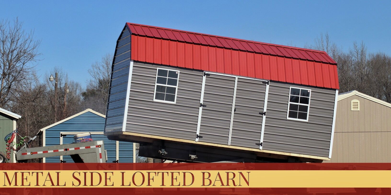 Best One Of Our Metal Side Lofted Barns With Yet Again Our Nice 400 x 300