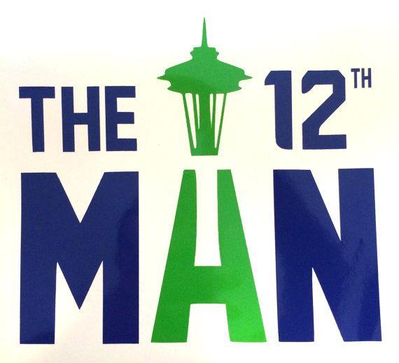 "Seattle Seahawks 12th Man Vinyl Decal 6""x6"" on Etsy, $5.00"