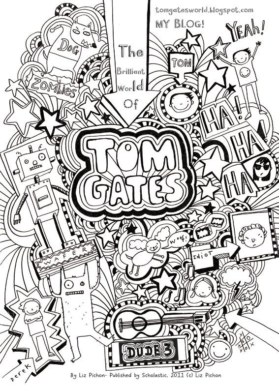 Tom Gates colouring sheet Ilustraciones in 2019 Tom
