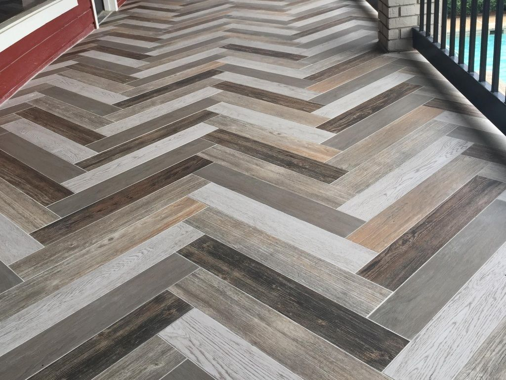 Herringbone Wood Look Ceramic Tile