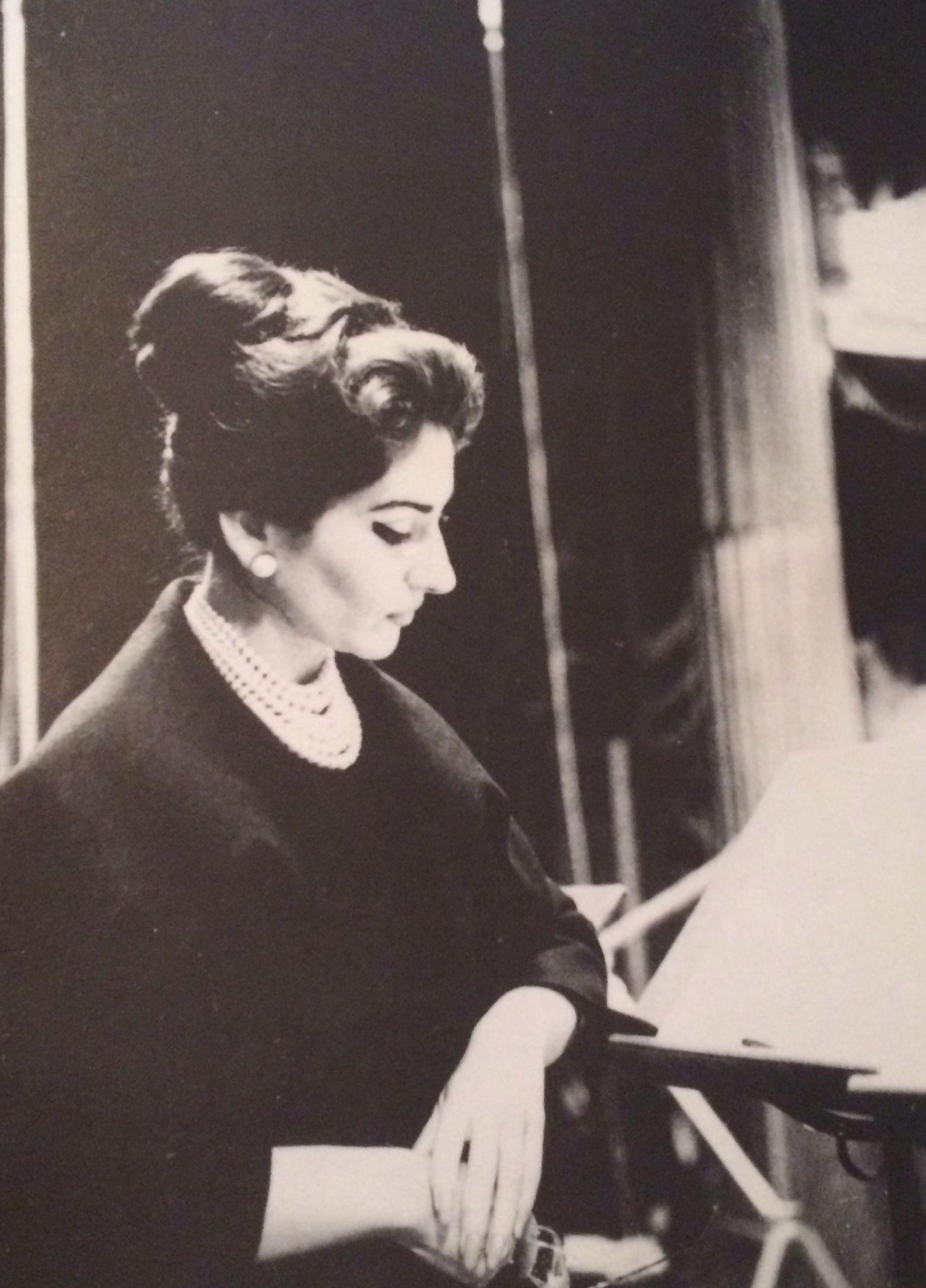 Maria Callas - 1959 during the recording of La Gioconda.