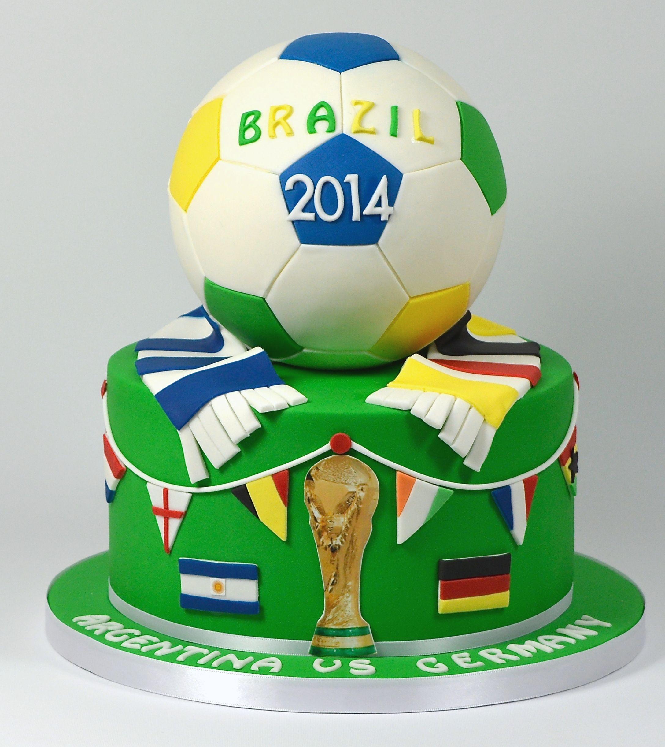 World Cup 2014 Football Birthday Cake Argentina Vs Germany