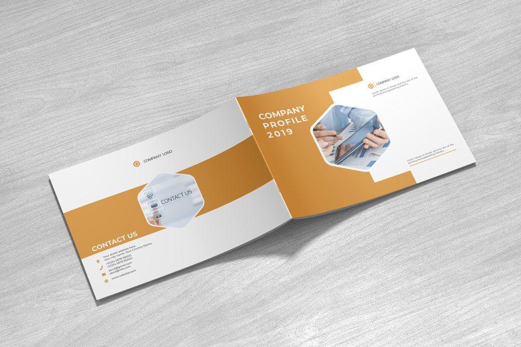 Free Landscape Brochure Ai Templates + PSD Mockup