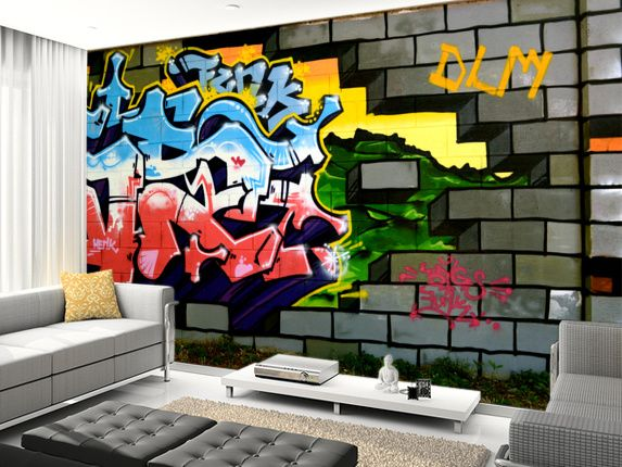 Breach The Wall Of Graffiti Wallpaper Wallsauce Uk Graffiti Room Graffiti Wallpaper Graffiti Wall