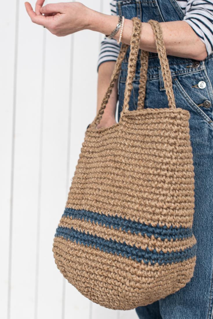 Jute bag eco friendly bag crochet bag shopper bag