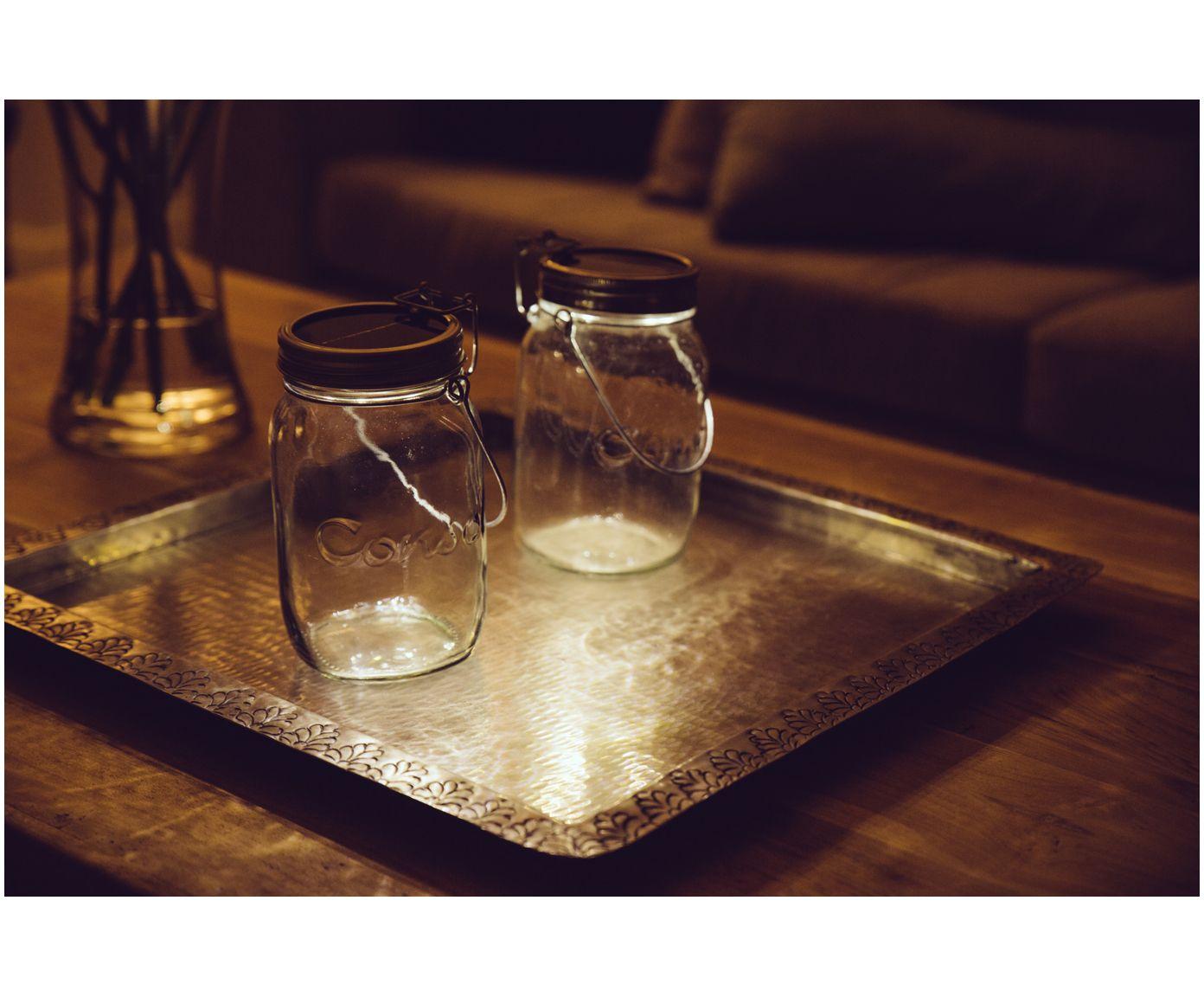 Led Solarleuchte Sonnenglas Glas Deko Solar Jar Jar Lights
