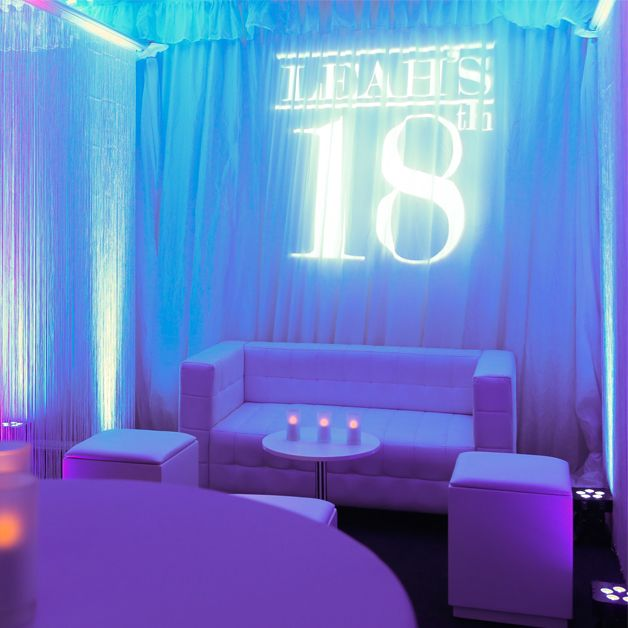 Transforming a marquee into a nightclub for an 18th Birthday Case