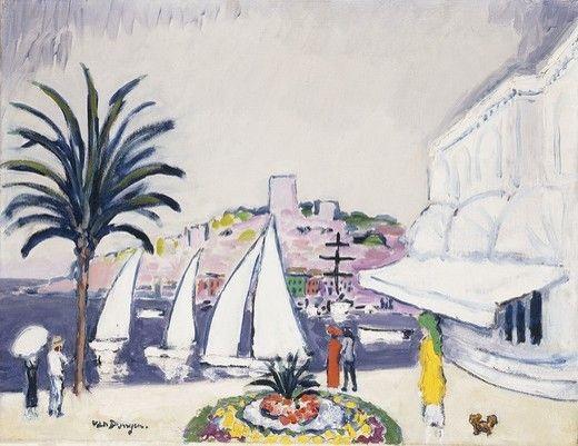 Kees van Dongen - Voiliers dans le Port de Cannes