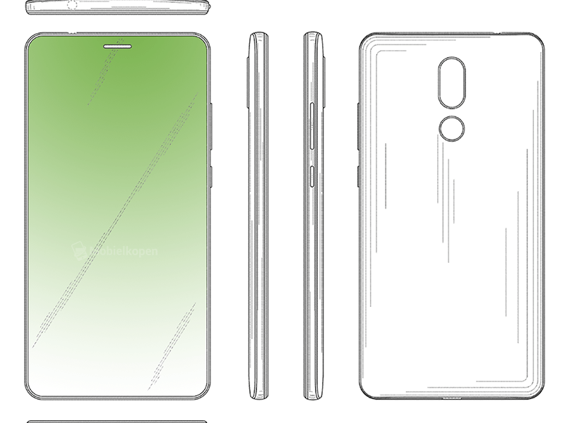 Huawei S New Patent Reveals A Bezel Less Display With Hidden Front Facing Camera And In Display Earpiece Earpiece Huawei Camera